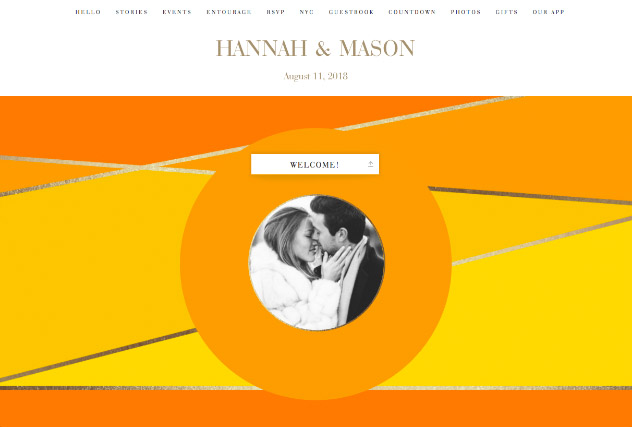 Sunrise Colorblock single page website layout