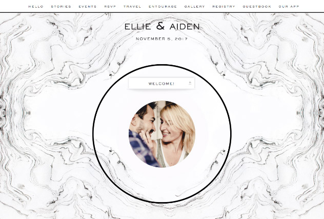 Tuscan marble single page website layout