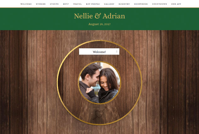Adventurer Green & Gold single page website layout