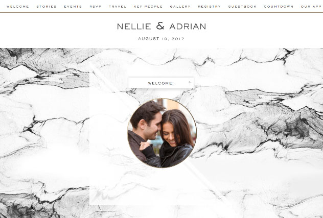 Erin Marble single page website layout