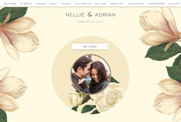 Karolina  single page website layout