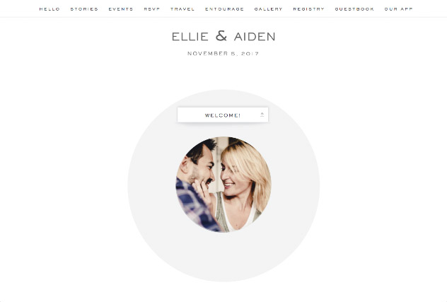 White single page website layout