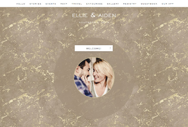 Gold Veined Marble - Kraft single page website layout