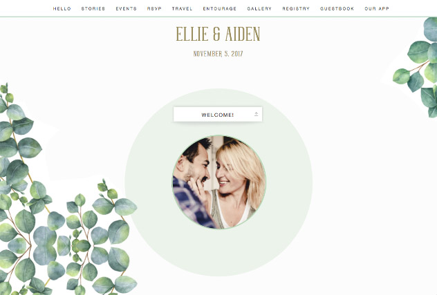Eucalyptus single page website layout