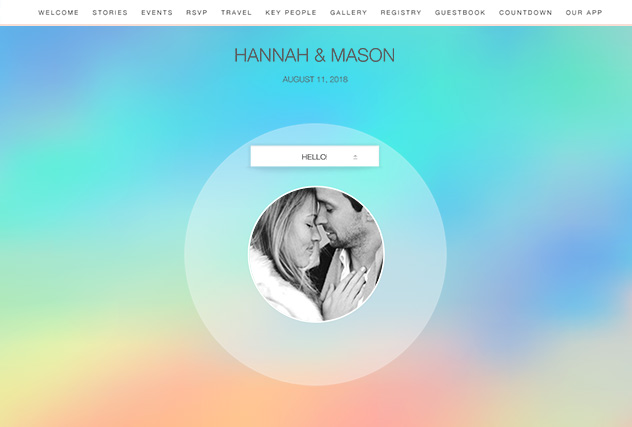 Holographic Foil single page website layout