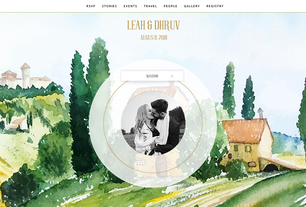 Classic Tuscany single page website layout