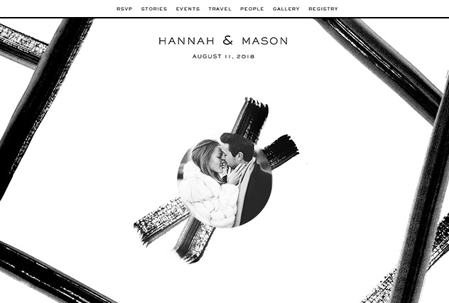Black  Tie  single page website layout