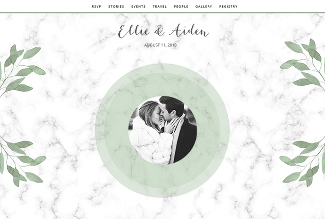 Midsummer Dream single page website layout