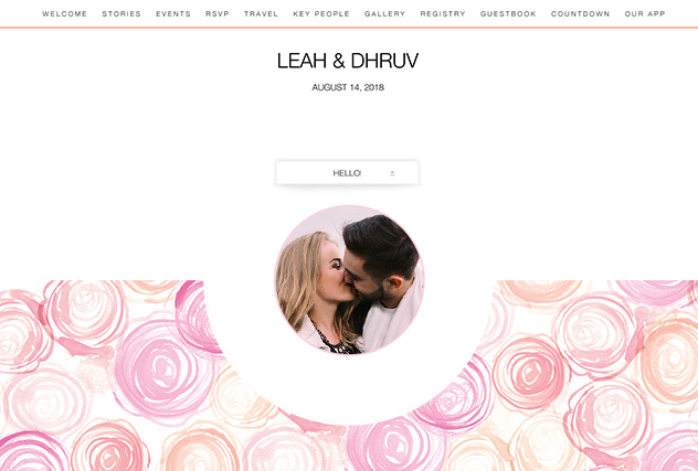 Modern Rose single page website layout
