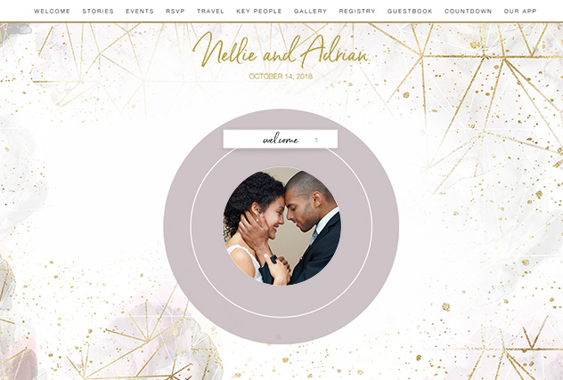 Love Affair single page website layout