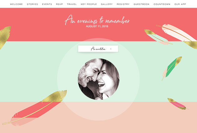 Love Letters single page website layout