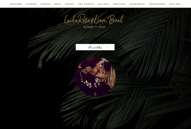 Astrid single page website layout